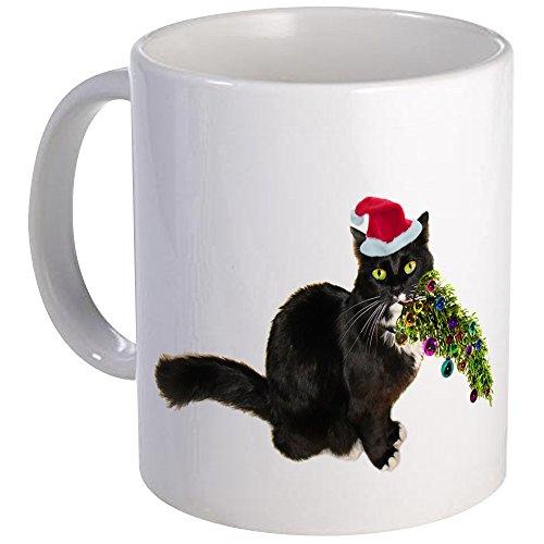 CafePress Cat Christmas Tree Mug Unique Coffee Mug, Coffee Cup (Cat Shot Mug Christmas)