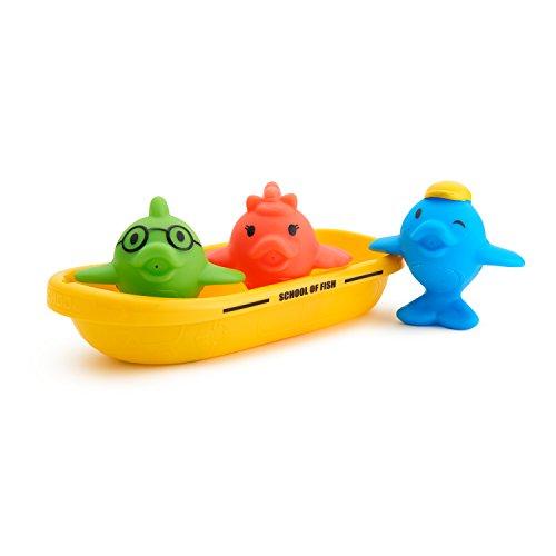41WmyJLVeAL - Munchkin Bath Toy, School of Fish