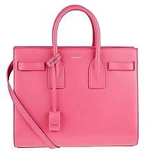 Saint Laurent YSL Classic Small Sac Du Jour Pink Leather Satchel Bag 355153 5604