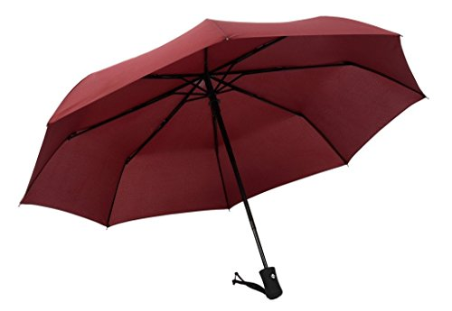 Peacock Costume Target (Century Star Automatic Compact Business Foldable Rain Folding Travel Umbrella Burgundy)