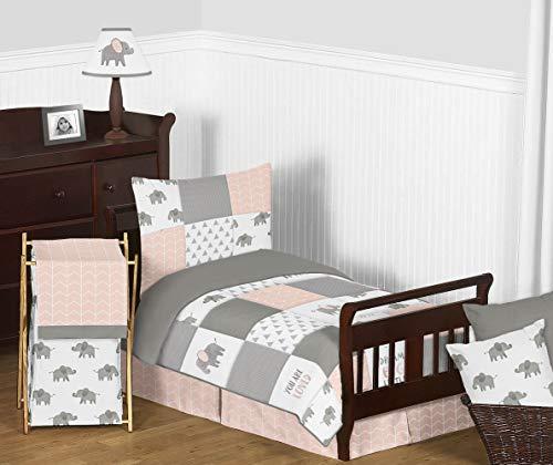Sweet Jojo Designs Blush Pink, Grey and White Watercolor Ele