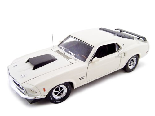 1969 Ford Mustang Boss 429 Cream 1/24 Diecast Model by Unique Replicas - Mustang Boss 429 Model