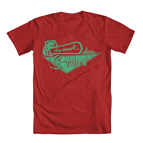 GEEK TEEZ Shop Smart Shop S-Mart Men's T-Shirt Red XX-Large