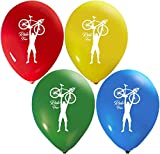 Bicycle Balloons | Colorful Latex Balloons (20-Count) Happy Birthday Party or Event Use | Fill with Air or Helium | Kid-Friendly