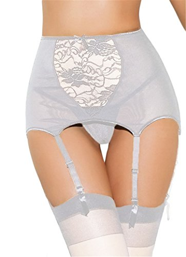 Lace Hollow Out See Through Mesh Sexy Garter Belt With G String Plus Size S-5XL