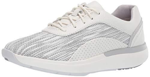 CLARKS Women's Un Cruise Lace Sneaker, White Leather, 80 M US