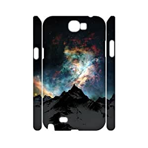 3D Samsung Galaxy Note 2 Case Nebulae over Snowy Mountain, - [White] Sexyass