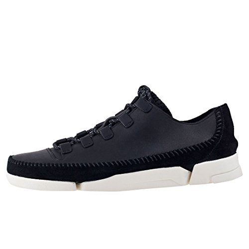 Clarks Originals Mens Trigenicflex 2 Chaussures En Cuir Noir