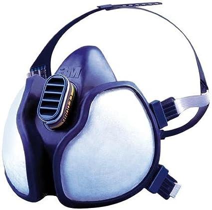 3M 4279 Respirador especial elementos químicos para pintores, Azul y blanco