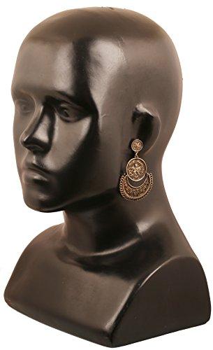 ... Bridal Moon Und Ohrringe Für Pretty Designer Indischen Oxidation Floral  Thema Schmuck Gold Fransen Kronleuchter Chandbali ...
