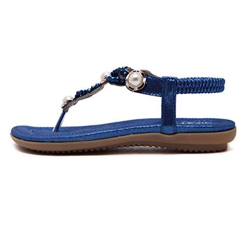 Infradito Estivi Dolphinbanana Gioielli Colorate Pure Con Sandali Glossy E A Blue Dorate Donna pqqwTt