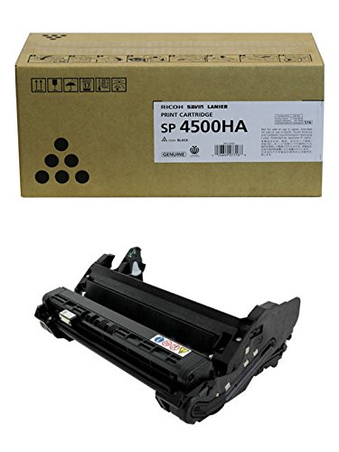 Ricoh 407316 High Yield Print Cartridge and 407324 Photoconductor Unit for SP 4510DN, 4510SF ()