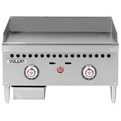 "TableTop King VCRG24-T1 Natural Gas 24"" Countertop Griddle with Snap-Action Thermostatic Controls - 50,000 BTU"