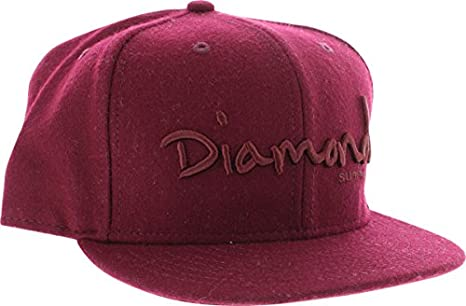 c96c61edeafb2b Image Unavailable. Image not available for. Color: Diamond Supply Co OG  Script Burgundy Fitted Hat ...