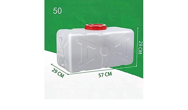 HLDJ El agua del tanque de almacenamiento de agua de los hogares de la categoría alimenticia grande de almacenamiento de plástico Cubo rectangular horizontal Torre espesado con agua del grifo blanco C: