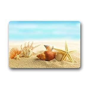 Diseño Moda único cómodo estilo felpudo. Decor Gorgeous naturaleza playa estrella de mar Conchas Arena Felpudo 15.7-inch por Felpudo 23.6Floor Mat Alfombra de baño alfombra de interior/al aire libre