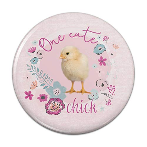 One Cute Chick Chicken Easter Spring Compact Pocket Purse Hand Cosmetic Makeup Mirror - 3