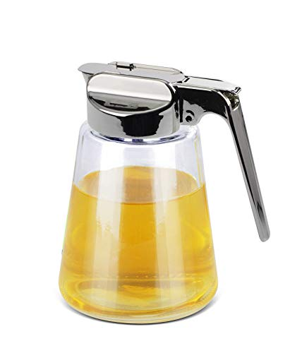 Honey Dispenser - Glass Jar - Syrup or Honey Dispenser