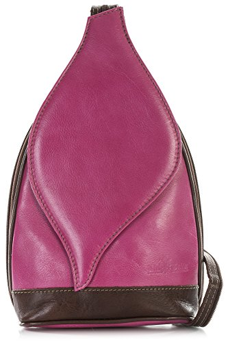 KIM Bag LIATALIA Duffle Italian Pink Small Leather Hot Womens Brown Shoulder Backpack Real Rucksack 4x4wqSnzvB