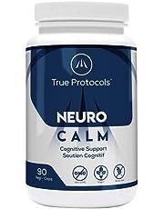 TRUE PROTOCOLS - Neuro Calm - L-Theanine (75mg) + GABA (75mg) + Glycine (250mg) + Bacopa Monnieri (100mg) + Vitamin B6 (2.5mg) - For Optimal Cognitive Health & Brain Function - 90 High Absorption Vegan Capsules - 100% Non-GMO Supplement