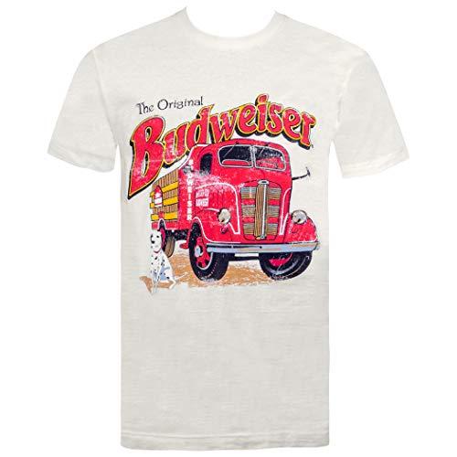 Budweiser Vintage Firetruck Off-White Tee Shirt Medium