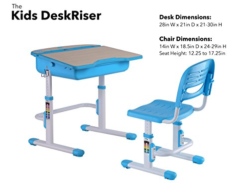 The House Of Trade Height Adjustable Kids Desk And Chair Set