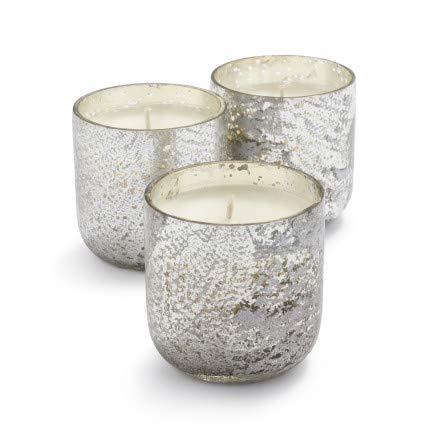 Sur La Table Mercury Glass Fragranced Votives, 2.5 oz, Set of 3, Balsam & Clove
