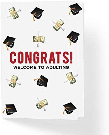 Amazon.com: Tarjeta de graduación divertida – Felicitaciones ...