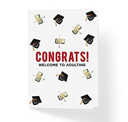 2c95a955d191a Funny Graduation Card - Congratulations Welcome To Adulting - 5
