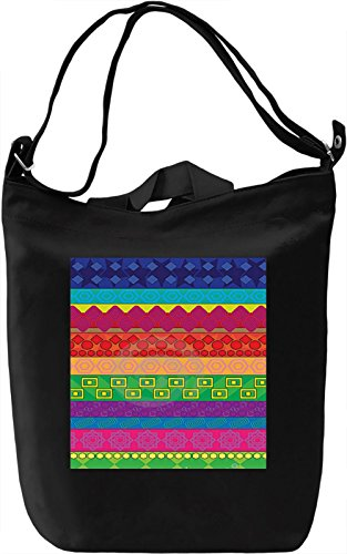 Vintage Lines Print Borsa Giornaliera Canvas Canvas Day Bag| 100% Premium Cotton Canvas| DTG Printing|