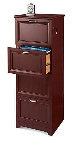 Realspace Magellan Collection 4-Drawer Vertical File Cabinet, 54H x 18 3/4W x 19D, Classic Cherry CHINA 414884