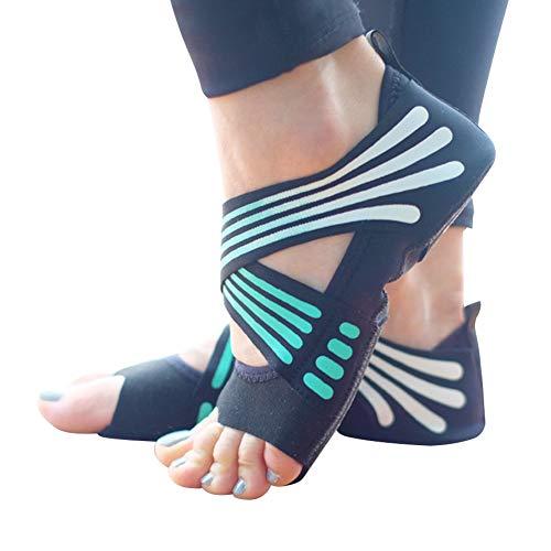 Ladovin Yoga Socks Women Toeless Anti-skid Socks for Pilates Barre Ballet Bikram Workout, US Size 6.5-7.5