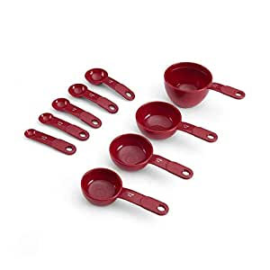 KitchenAid 9-Piece Measuring Cup and Spoon Set, Red