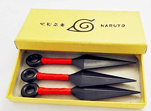 PampasSK Costume Props - Anime Naruto Ninja Uzumaki Kunai Shuriken Throwing Weapon Props Cosplay Toy 1 PCs -