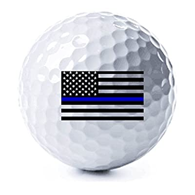Thin Blue Line American Flag Golf Balls - 3 Pack