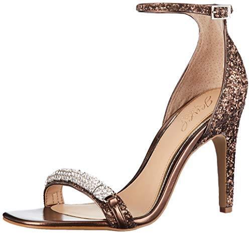 Jewel Badgley Mischka Women's RANYA Sandal, Bronze Glitter, 10 M US