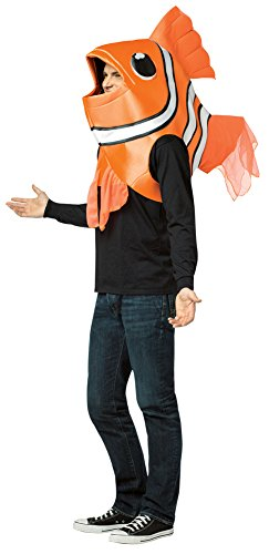 Clown Fish Adult Costumes (Mens Halloween Costume- Clown Fish Adult Costume)