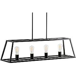 Lorenzi 4 Light Kitchen Island Pendant - Bronze w/LED Bulbs - Linea di Liara LL-P12-6DB-LED