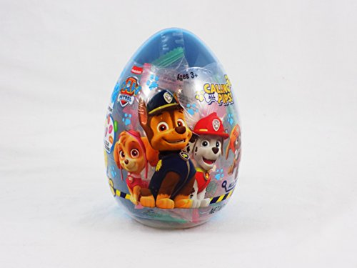 Paw Patrol Large Plastic Egg filled with Lollipops Jelly Beans and Sour Candy