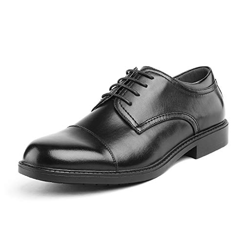 Bruno Marc Men's Downing-01 Black Leather Lined Dress Oxfords Shoes Size 10.5 M US