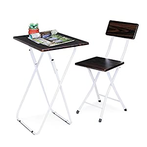 Portable Folding Picnic Table And Chair Set Space Saving Study Desk And Chair Set