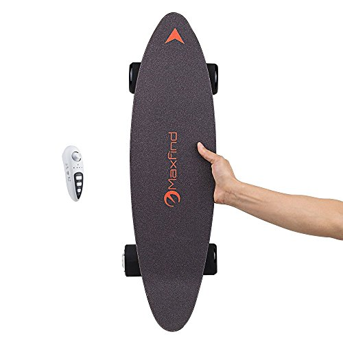Electric Skateboard Longboard with Remote Controller, 25 MPH Top Speed, 15 Miles Max Range, Dual Motor 1000W, FIBERGLASS Desk with Updated Board - 4nd Generation (Max c)