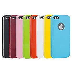 Solid Color Chequer Anti-Fingerprint Hard Back Case for iPhone 5/5S (Assorted Colors) , Yellow
