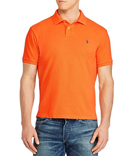 Polo Ralph Lauren Men's Classic-Fit Mesh Short sleeve Polo (X-Large, - Ralph Polo Blue Orange Lauren And