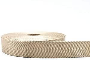 1 yard Polyester Fibre Webbing Ribbon Band Strap Tape Backpack Accessory Black
