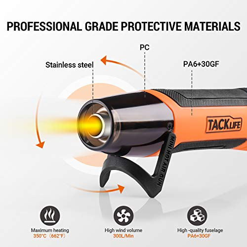 Electric 300W Portable Heat Gu.n for DIY Craft Embossing Drying Paint Clay Long Hot Heat G.un Rubber Stamp Shrink Wrapping PVC Uptdate Version Mini Handheld Hot Air Gu.n