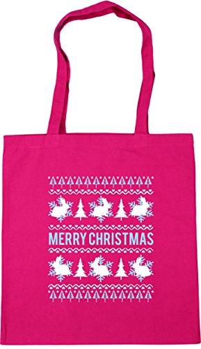 10 x38cm Gym Merry Shopping litres HippoWarehouse Tote Fuchsia 42cm christmas Bag Beach bunny SRqqwFUv