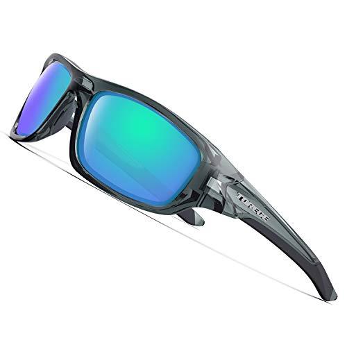 89346725518 TOREGE Polarized Sports Sunglasses Man Women Cycling Running Fishing Golf  TR90 Unbreakable Frame TR011 -Upgrade
