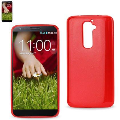 LG G2用レイコポリマーTPUケース、非小売包装、赤   B00FDYPMBA
