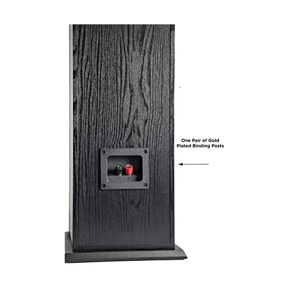 Polk T50 150 Watt Home Theater Floor Standing Tower Speaker Single Dolby and DTS Surround - Premium Sound at a Great Value